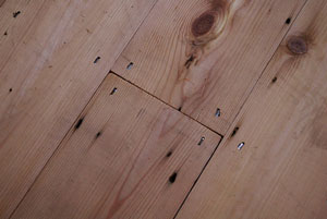 Untreated Wooden Floorboards