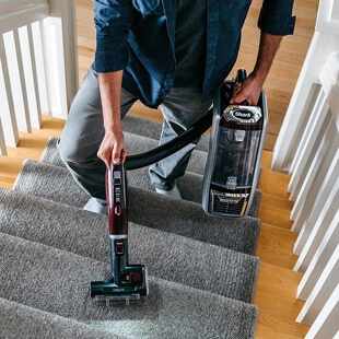 Vacuuming Stairs