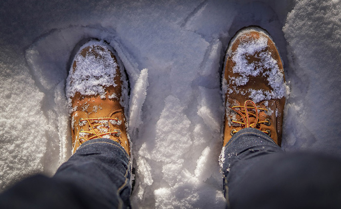 Dirty Snow Covered Boots